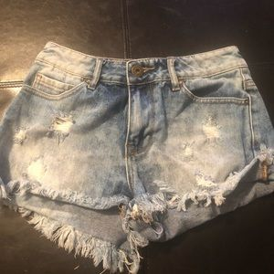 high rise shorts from pacsun